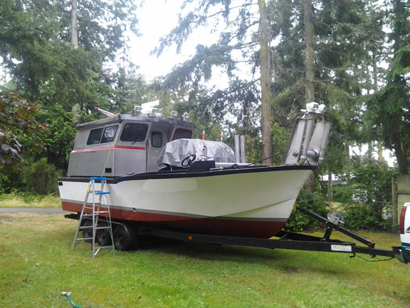 P2382M - 27 X 10 BOWPICKER, COMPLETE SET OF NETS AND PUGET SOUND PERMIT